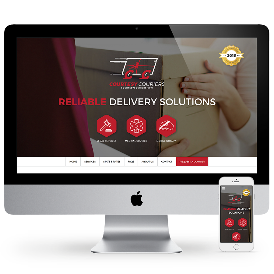 Courtesy Couriers Web Design & Development