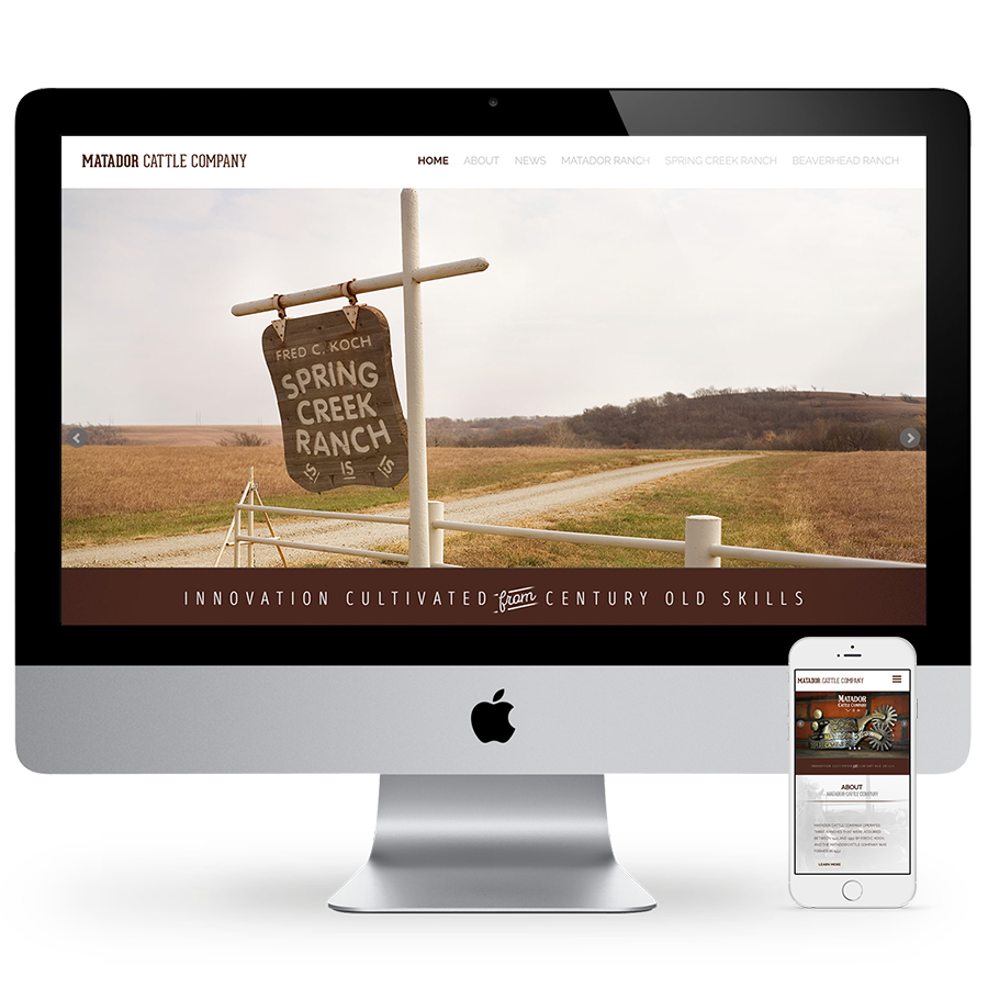 Matador Cattle Company Web Design & Development