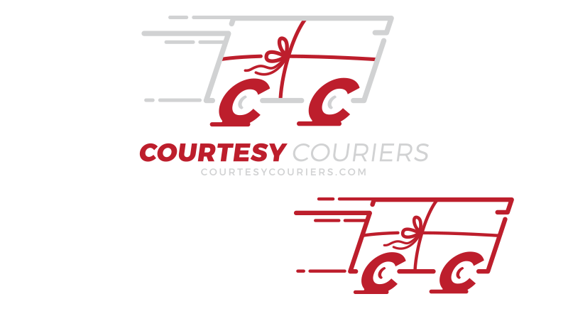 Courtesy Couriers Logo Design
